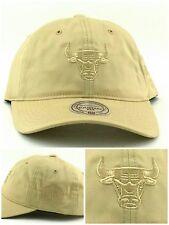 Chicago Bulls New Mitchell & Ness Women Ladies Beige Tan Era 47 Dad Hat Cap