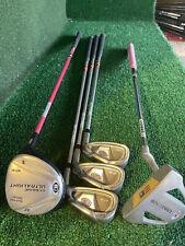 New listing Nice! GIrl's USKG WT-20 UL51 5 Piece Junior Golf Set~Putter, Pw, 8, 6, Fwy Wood