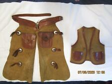 Childs Vintage Leather Cowboy Outfit