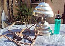 jolie petite lampe champignon en métal chromé début 20 ème art déco