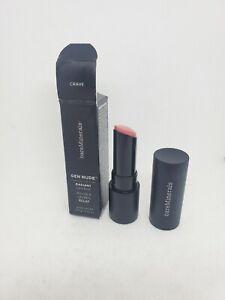 New in Box bareMinerals GEN NUDE Radiant Lipstick - Crave   (3.5 g / 0.12 oz)