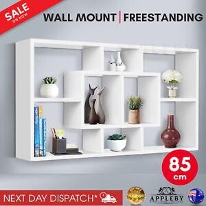 Floating Wall Shelf DIY Mount Storage Bookshelf Display Rack White
