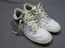 Nike Dunk Bas Blanc Vert Blaze 311730 116 Rare Basket Taille 7 Jeunes 8.5 Femmes