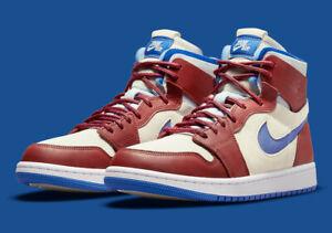 Nike Air Jordan 1 Zoom Air CMFT Shoes Sail Redstone Blue CT0979-104 Multi Size