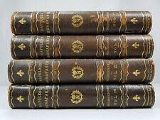 MEMOIRS OF NAPOLEON BONAPARTE by M. Louis de Bourrienne 4 Volumes 1836 Leather