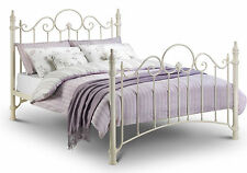 Florence Metal Bed Frame In Cream Double 135cm 4ft 6