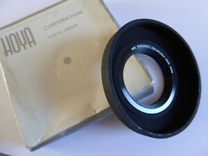 HOYA 52mm WIDE ANGLE rubber lens HOOD. Boxed, Opened, Never used