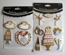Bella Dimensional Stickers Wedding BWD79 BWD86 11 Pieces