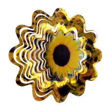WorldaWhirl Whirligig 3D Sunflower Wind Spinner Twister Home Yard Patio Decor SS