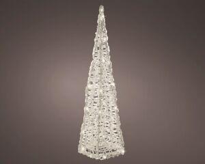 Kaemingk Christmas 80 LED Indoor Outdoor Acrylic Pyramid 120cm/1.2m - WARM WHITE