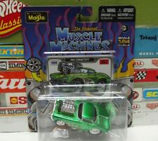 MUSCLE MACHINES 1:64 THE ORIGINALS GREEN 1962 CORVETTE #15210