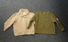 JANIE & JACK/JACADI Lot Of 2 Brown Yellow Boy's Chunky Sweaters Size 4 GG2786