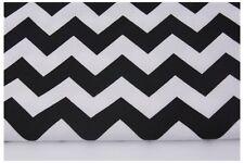 Black Chevron , Zig Zag, QUALITY UPHOLSTERY FABRIC100% Cotton Fabric  240 gr