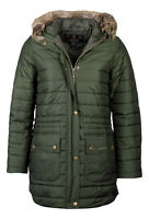 NEW Barbour Ladies Ascott Warm Insulated Quilted Jacket Green Size UK 14
