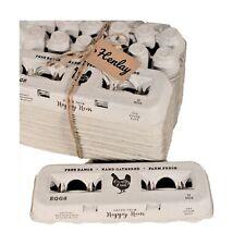 25 Egg Cartons Adorable Printed Vintage Design For Farm Fresh Eggs Recycled