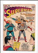 SUPERMAN #115 ==> GD/VG 3 SUBSTITUTE SUPERMEN DC COMICS 1957