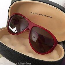 Balenciaga Paris Edition Womens Red Aviator Sunglasses BAL0016/S Safilo Italy