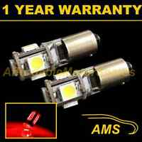 2X BA9s T4W 233 CANBUS ERROR FREE RED 5 LED SIDELIGHT SIDE LIGHT BULBS SL101401