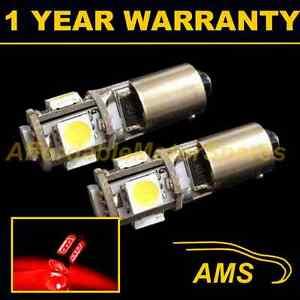 2X BA9s T4W 233 Canbus sans Erreur Rouge 5 Feu Latéral LED Ampoules SL101401
