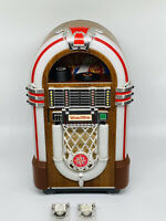 Vintage Leadworks Wurlitzer TableTop Jukebox Mini Cassette Player W/ 2 Tapes Jpn