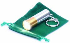 Shotgun Cartridge Keyring Torch LED KEY RING Shooting Gift NEW Ideal Present
