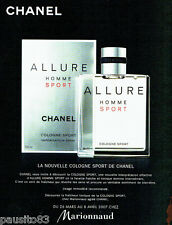 PUBLICITE ADVERTISING 096  2002   Eau de Cologne ALLURE Homme Sport de Chanel Ma