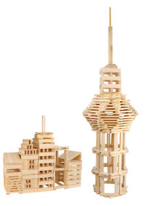 NEW Tooky Toy City Block Large Wooden Educational Toy - 250Pcs - 3+ Years