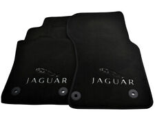 Floor Mats For Jaguar F-Pace 2016 Black Tailored Carpets Set With Jaguar Emblem