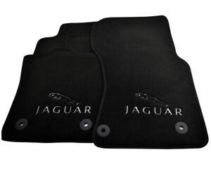Floor Mats For Jaguar F-Pace 2016 Black Tailored Carpets Set With Jaguar Emblem