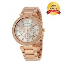 NEU Michael Kors 39mm MK5491 Damen Parker Rose Gold Chronograph Designer Watch