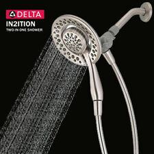 Delta Faucet 75483DSN In2ition Two-In-One Hand Held Shower Head, Brushed Nickel