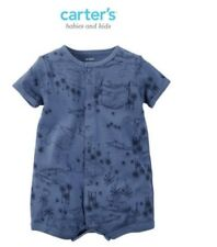 Carter's Snap-Up Cotton Romper - Blue
