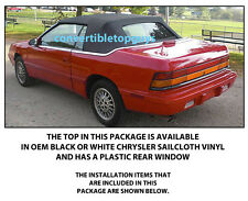 CHRYSLER LEBARON CONVERTIBLE TOP DO IT YOURSELF PACKAGE 1987-1989