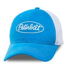 Peterbilt Motors Trucks Marine Blue & White Sueded Mesh Cap/Hat