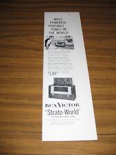 1954 Print Ad RCA Strato-World 7 Band Portable Radios Short Wave
