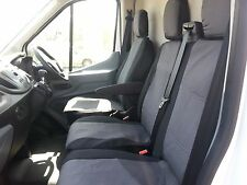 PREMIUM GREY FABRIC SEAT COVERS TAILORED TO FIT FORD TRANSIT CUSTOM 2013 + RHD