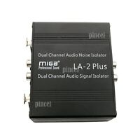 LA-2PLUS Audio Signal Isolator Speaker Tester Hum Noise Isolator Aluminum Shell