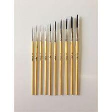 Kafka Design Series Scriptliner Pinstriping Brush Set of 10 Sizes 5/0 thru 12
