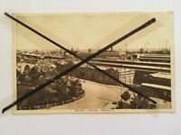 ANTIQUE VINTAGE BLACK WHITE PHOTO POSTCARD OLD FREMANTLE  RAILWAY STATION WA