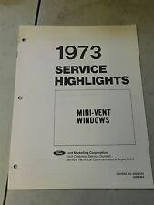 Nos 1973 Ford Thunderbird Lincoln Mercury Mini Vent Windows Shop Service Manual