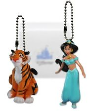 "Disney Aladdin ""Jasmine & Rajah"" 2 Pc Pvc Figure Keychain Key Chain Dangler Toy"