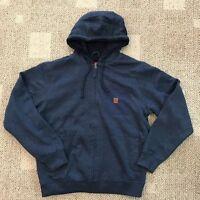 Coleman Men's M Medium Full Zip Fleece Lined Work Hoodie Sweatshirt Jacket Blue
