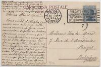 1924 REGNO MICHETTI CENT.60 ISOLATO SU CARTOLINA PANORAMICA(NAPOLI) PER L'ESTERO