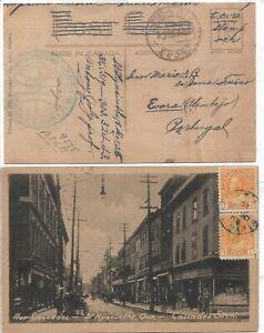 1925 - Canada - Photo Post card ; Ste Hyacinthe, Quebec to Evora, Portugal