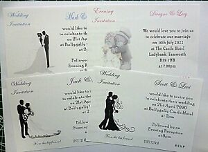 Sets of 10 - complete Wedding Set - Hand made - Personalised - order separates