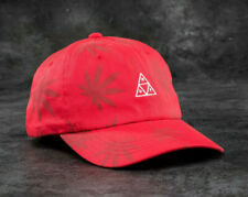 Huf Worldwide Skate Shoes Cap Dad 6 Panel Hat 420 Triple Triangle Red Plantlife