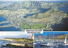 South Africa Aerial view of Cape Town Table Mountain Lighthouse Yachts