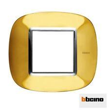 BTICINO  HB4802OR PLACCA ELLITTICA 2 MODULI