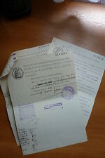 LOT 13002 TIMBRES STAMP VIEUX DOCUMENTS FRANCE
