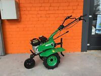 Two wheel tractor Tiller  7.5HP 5.5kW with wheels and ploughs NEW